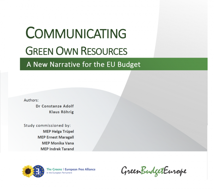 Communicating Green Own Resources: A New Narrative for the EU Budget