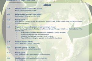 High-level seminar on circular economy open for registrations